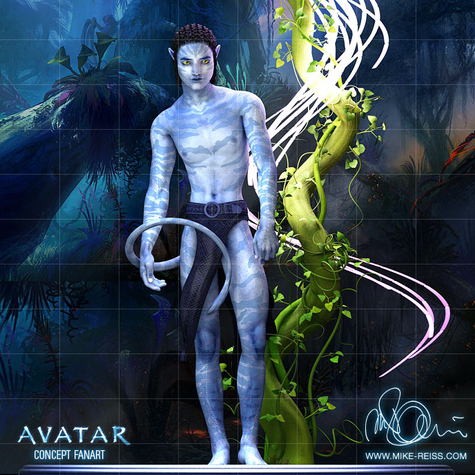 Avatar Concept Art 3D Render