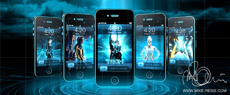 iPhone Skin im TRON Design