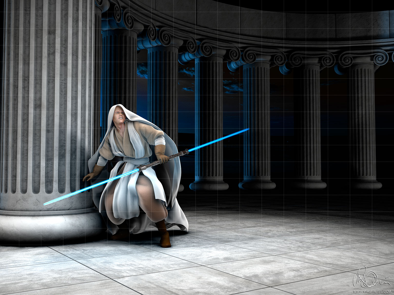 Jedi Ritter / Jedi Knight from STARWARS in 3D
