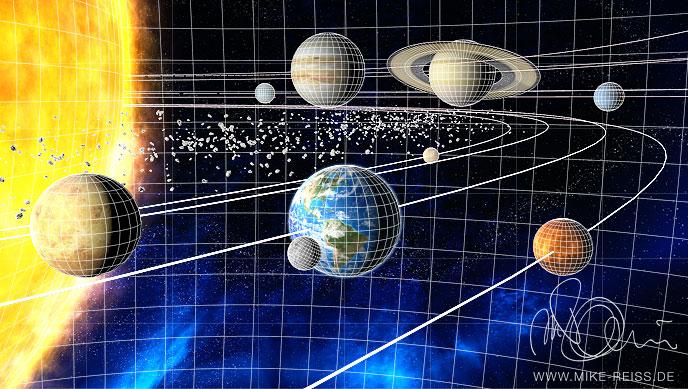 Sonnensystem Mit Planeten Und Asteroiden Als 3d Modell
