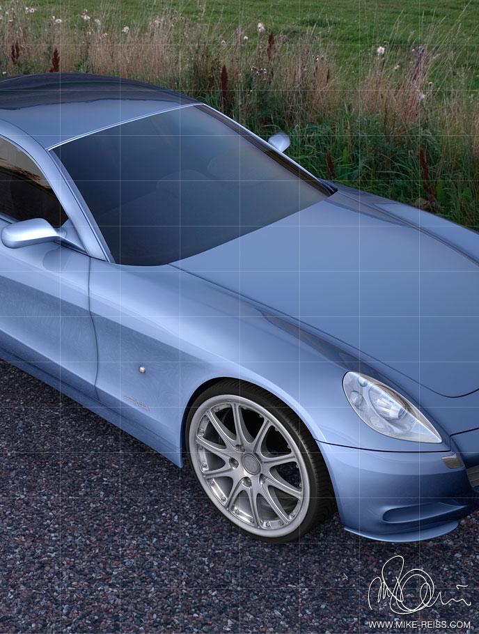 ferrari scaglietti prototyp visualisierung automobil 3d render. Black Bedroom Furniture Sets. Home Design Ideas