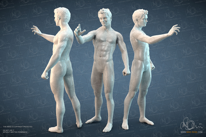 Alexander Mensch / Human 3D Render in Cinema4D & Poser