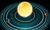 Unser Sonnensystem mit Sonne und Planeten