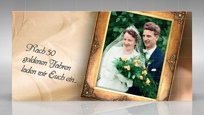 Goldene Hochzeit   Design Einer Einladung (Karte)